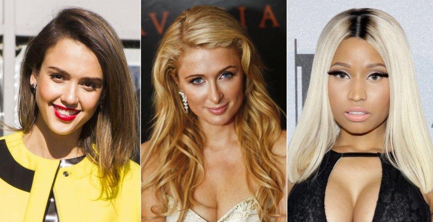 Jessica Alba, Paris Hilton ir Nicki Minaj