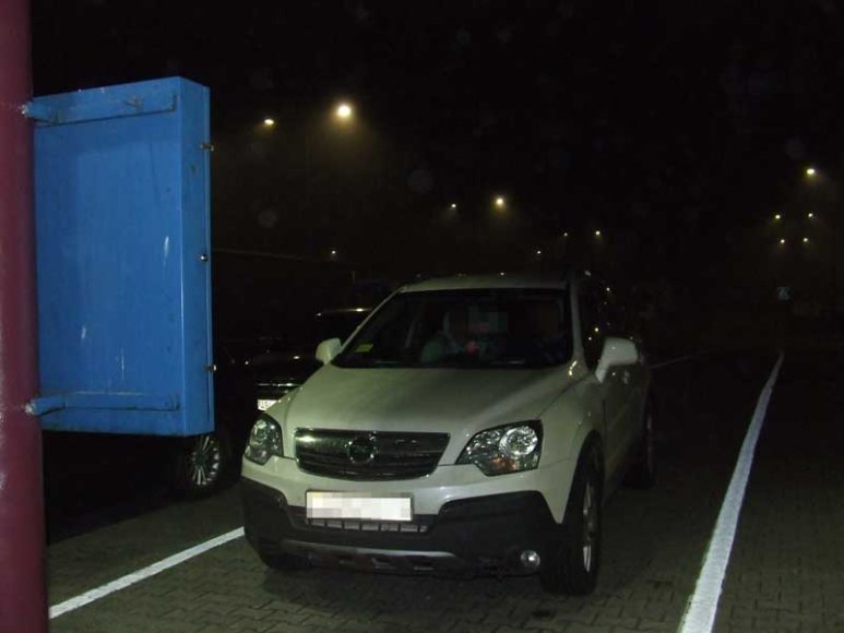"""Sulaikytas """"Opel Antara"""" visureigis"""