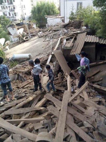 Žemės drebėjimas Kinijoje
