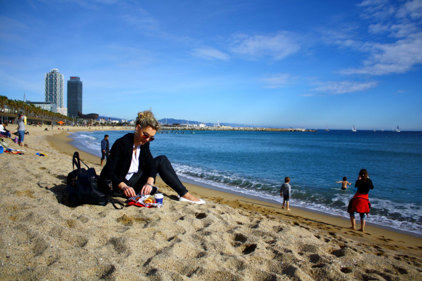 Liucinos Rimgailės atostogų Barselonoje akimirka