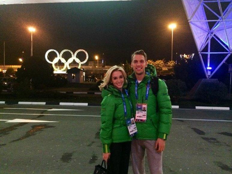 Deividas Stagniūnas ir Isabella Tobias atvyko į Sočį