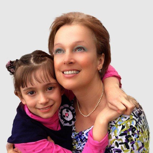 Gintarė Jautakaitė su dukra