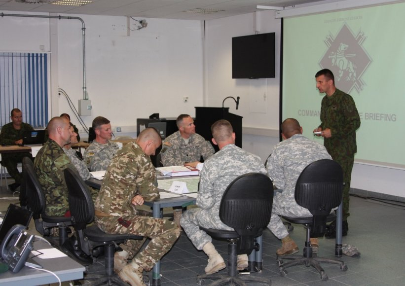 Lietuvos kariai rengiasi pirmą kartą vadovauti brigados dydžio kariniam vienetui