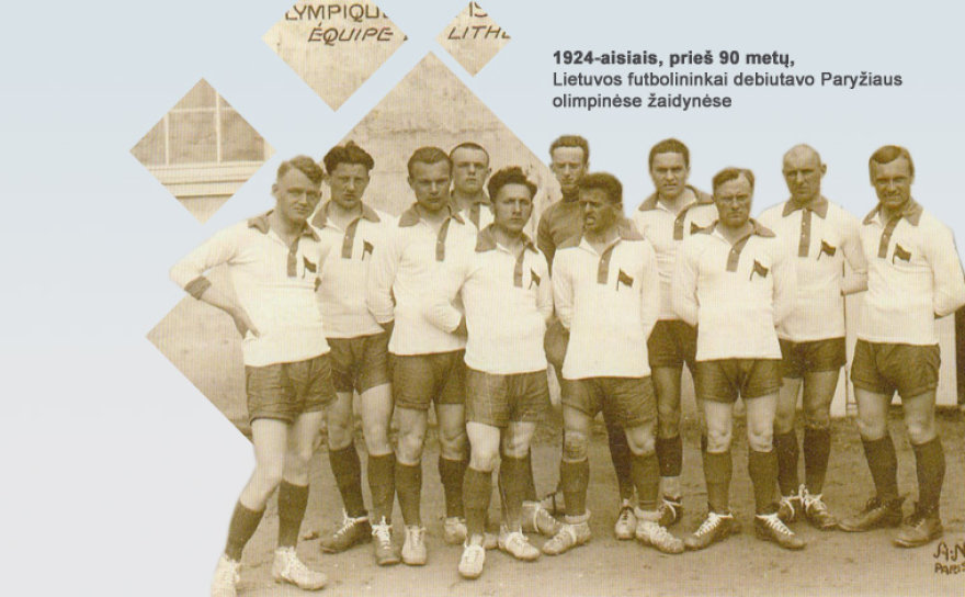 Lietuvos futbolo komanda, kuri pirmą kartą 1924 metais dalyvavo olimpiadoje