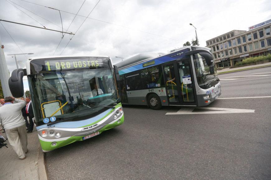 Elektrinis autobusas Vilniaus gatvėse