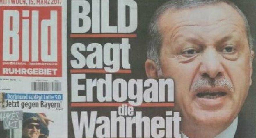 "R.T.Erdoganas ant ""Bild"" viršelio"