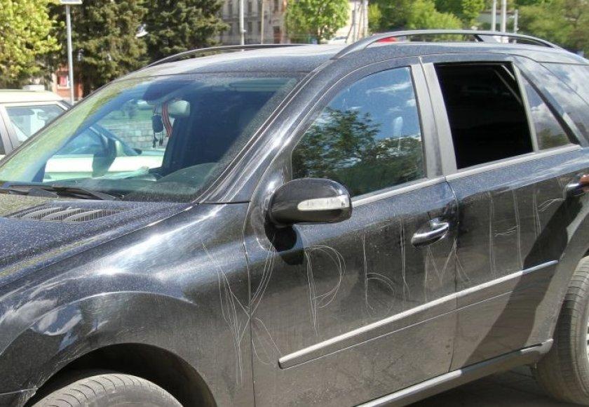 Subraižytas automobilis