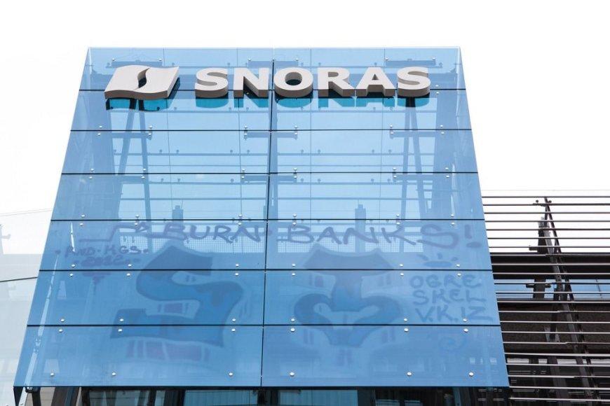 """Grafiti piešiniai ant banko """"Snoras"""" pastato"""