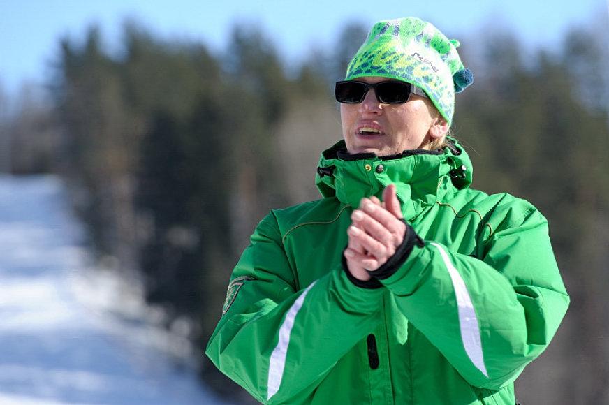 Vida Vencienė stebėjo savo vardo slidinėjimo varžybas