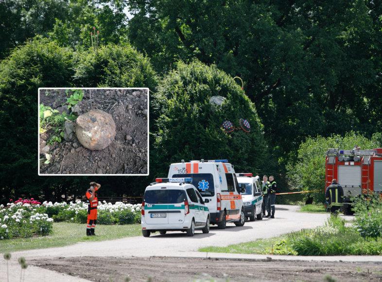 Kauno botanikos sode aptiktas sprogmuo