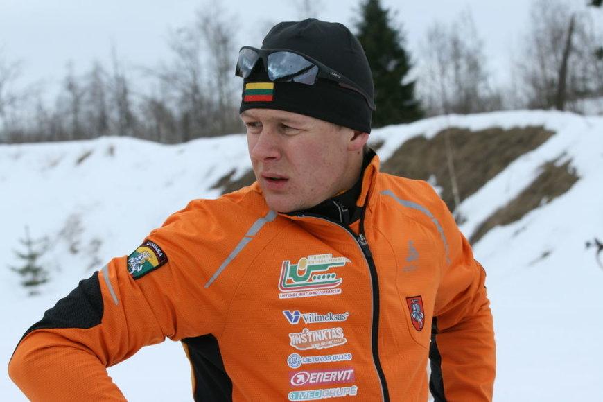 Biatlonininkas Tomas Kaukėnas