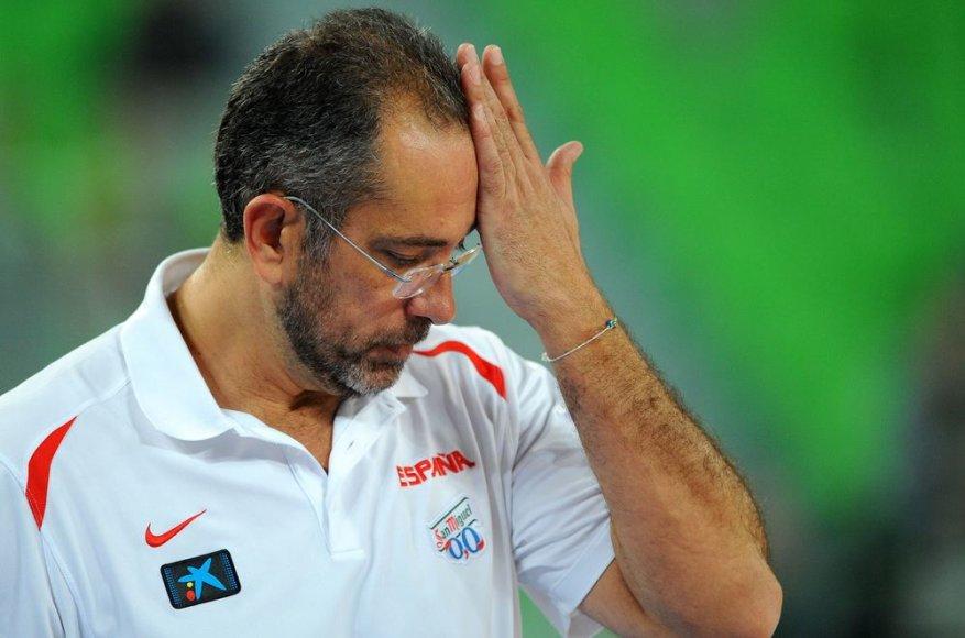 Ispanijos krepšinio rintkinės treneris Juanas Orenga