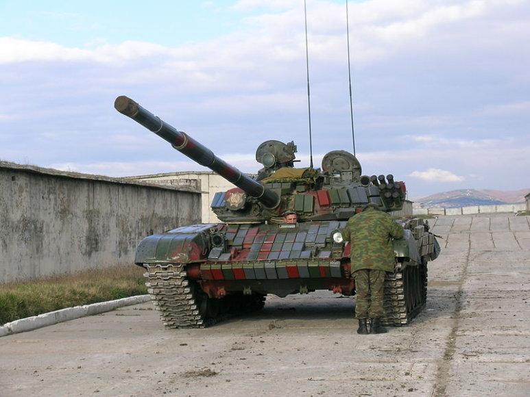 Gruzijos tankas T-72