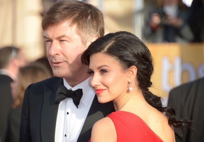 Alecas Baldwinas su žmona Hilaria Thomas