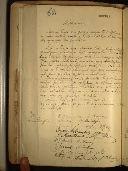Ambasados nuotr./Berlyne rastas Vasario 16-osio akto originalas lietuvių kalba