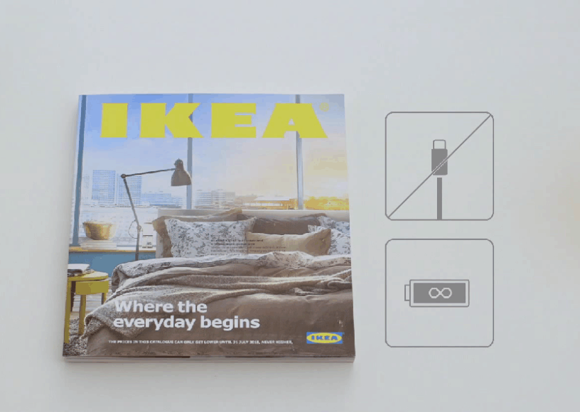 IKEA sugalvojo originalų būdą reklamuoti savo katalogą - katalogas pristatomas taip, tarsi taip būtų išmanusis telefonas