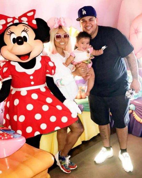 """Instagram"" nuotr./Blac Chyna ir Robas Kardashianas su dukra Dream"