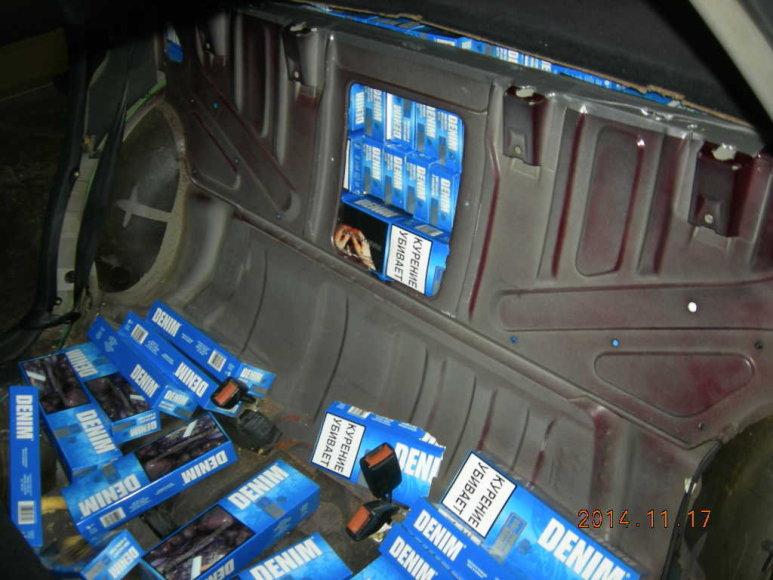 Kybartuose konfiskuotos kontrabanda gabentos cigaretės