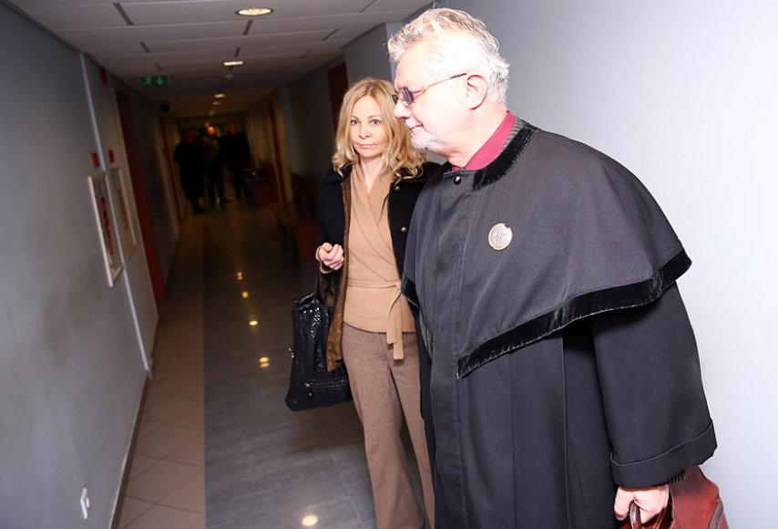 Violeta Malevska-Štenger su advokatu Pranu Makausku