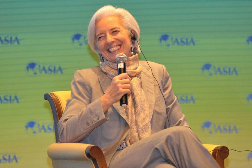 Christine Lagarde Hainane, Kinijos provincijoje, kasmetinėje Boao konferencijoje.