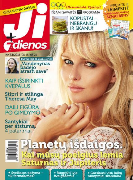 """Žurnalas """"Ji + 7 dienos"""" (33 nr.)"""