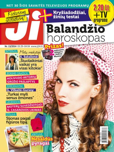 """2014 m. kovo mėnesio žurnalo """"Ji"""" Nr. 13"""