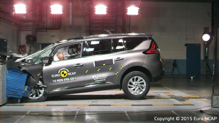 """Renault Espace"" ""EuroNCAP"" saugumo bandymuose"