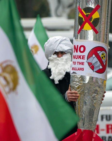 Protestas prieš Irano branduolinę programą