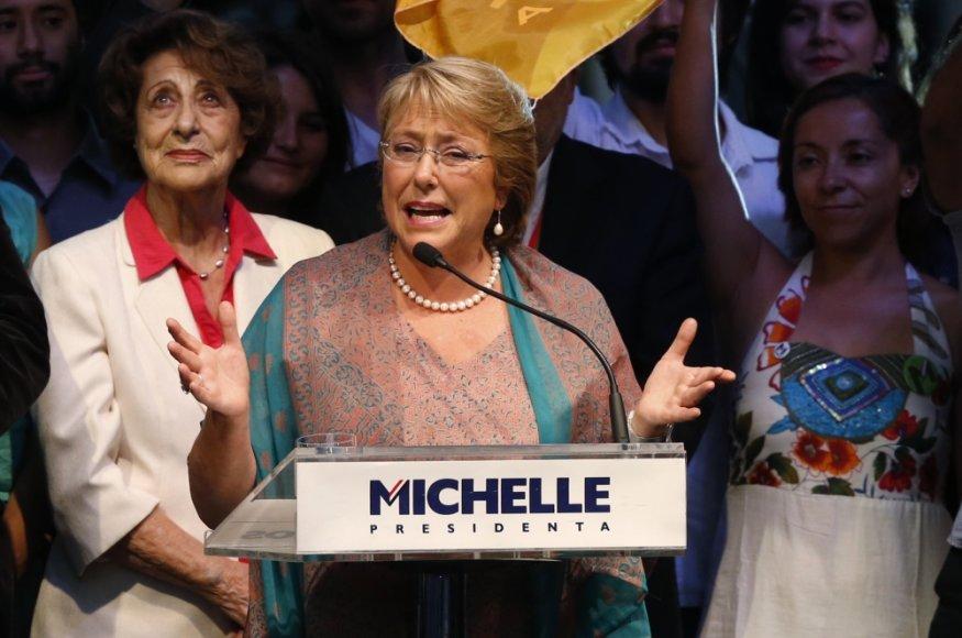 Čilės prezidentė Michelle Bachelet
