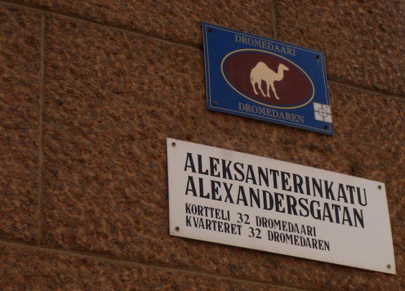 Namų blokų adreso lentelės Helsinkyje