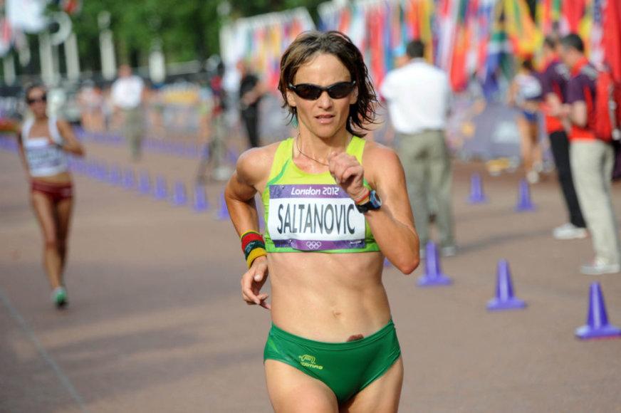Lietuvos sportininkės žingsniuoja olimpinius 20 km