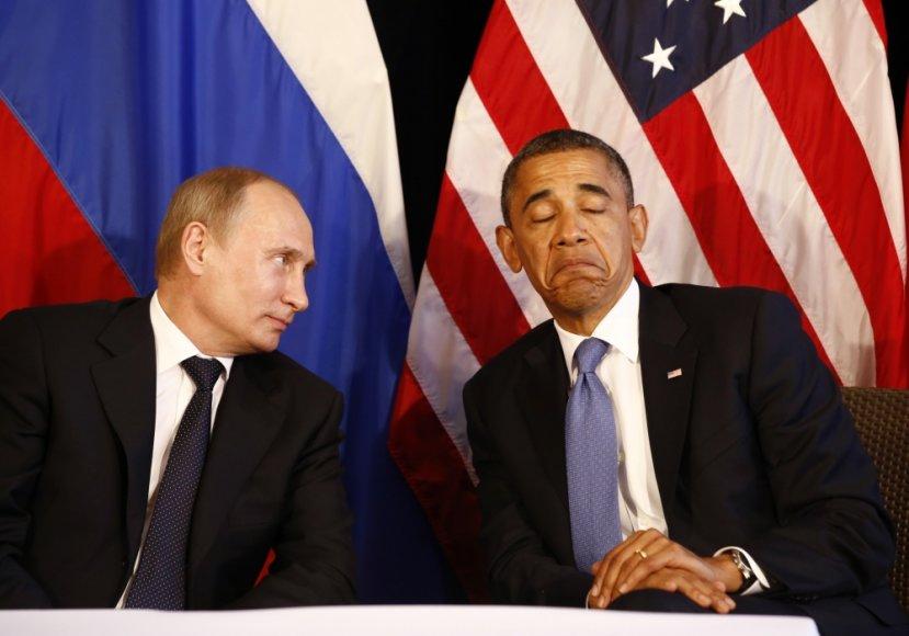 Vladimiras Putinas ir Barackas Obama