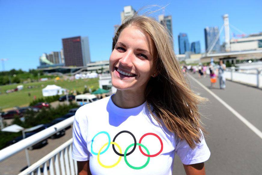 Olimpinė diena Vilniuje – šuolininkė į aukštį Airinė Palšytė