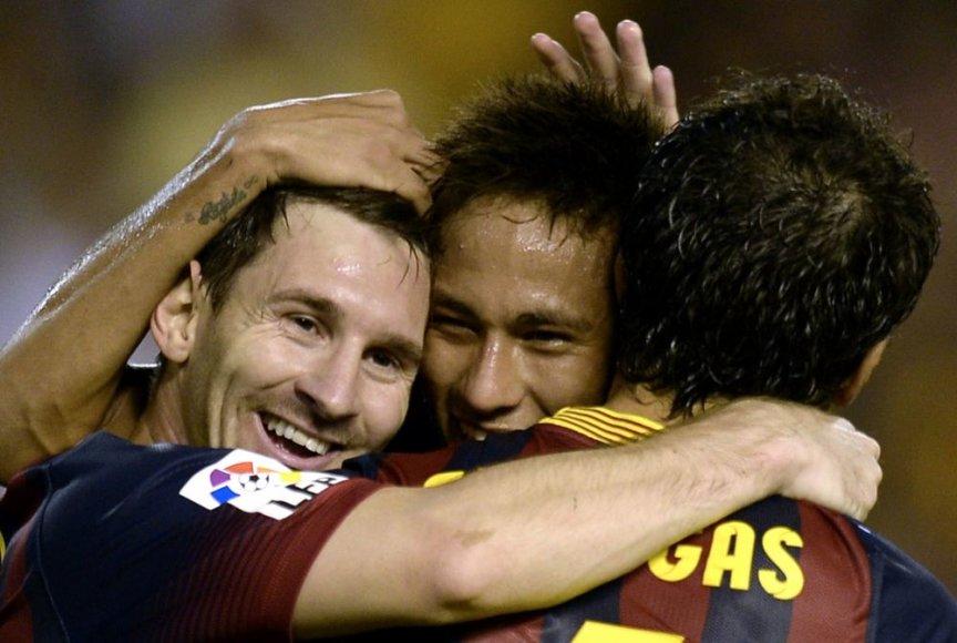 Lionelis Messi, Neymaras ir Cescas Fabregas