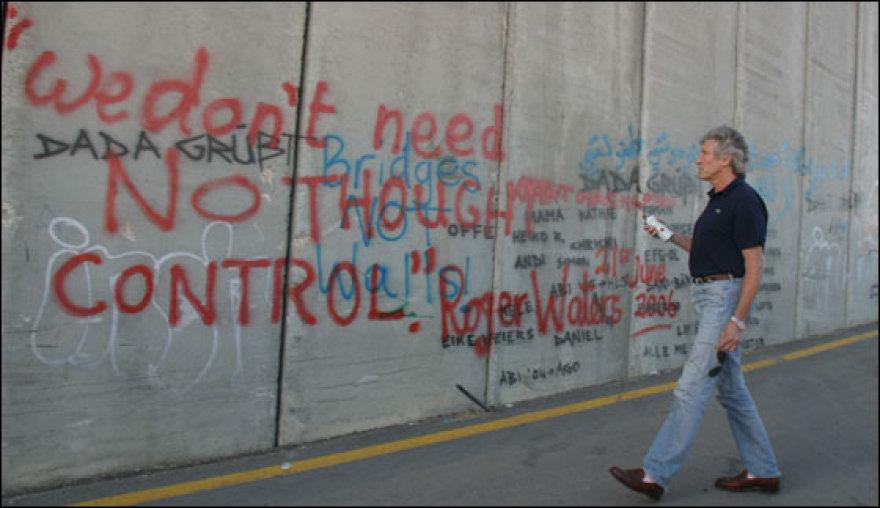 Rogeris Watersas prie sienos su Izraeliu
