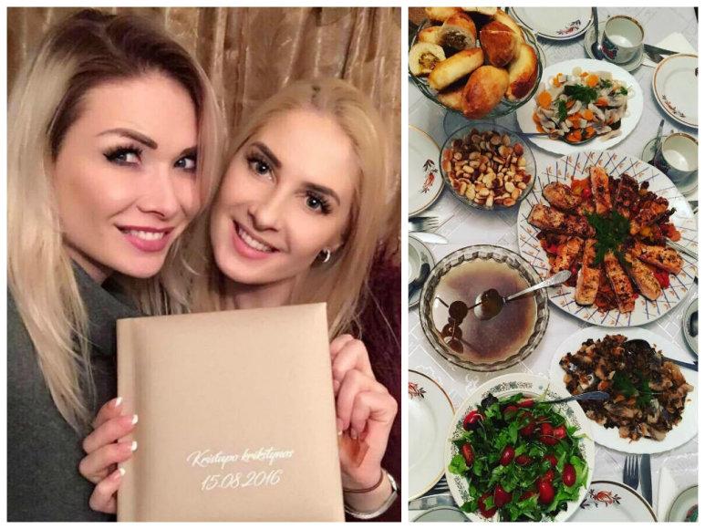 Natalija Bunkė ir Kristina Ivanova Kūčių vakarą