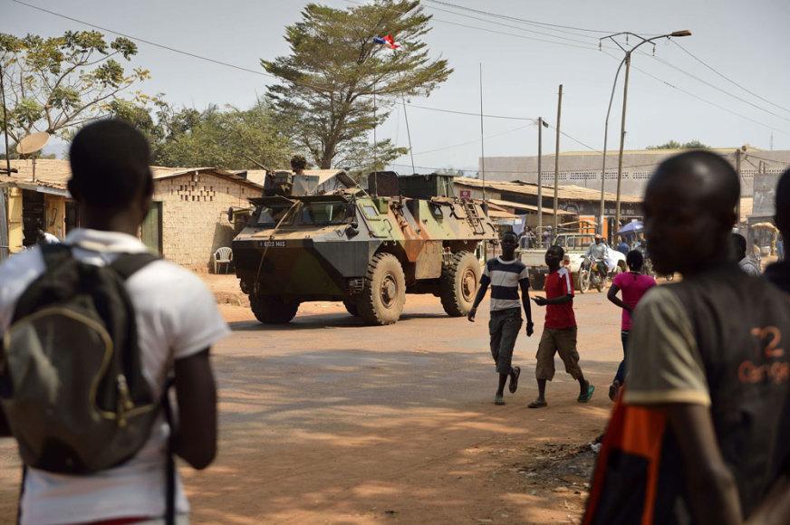 Prancūzų kariai Centrinėje Afrikos Respublikoje