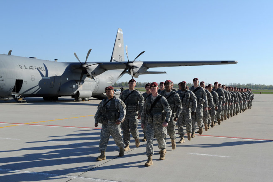 JAV karių kuopa jau yra Lietuvoje.