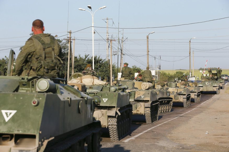 Rusijos kariai šalia Ukrainos sienos