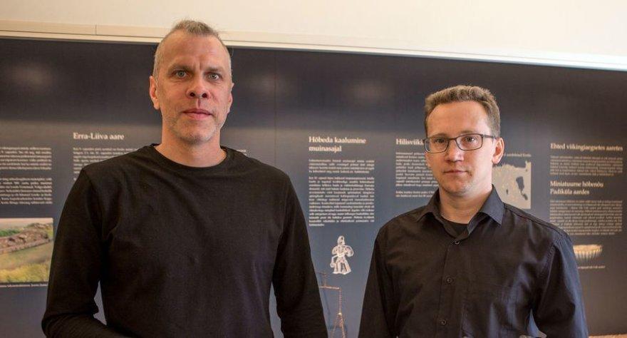 Estų archeologai Kiudsoo Mauri ir Latvia Priit