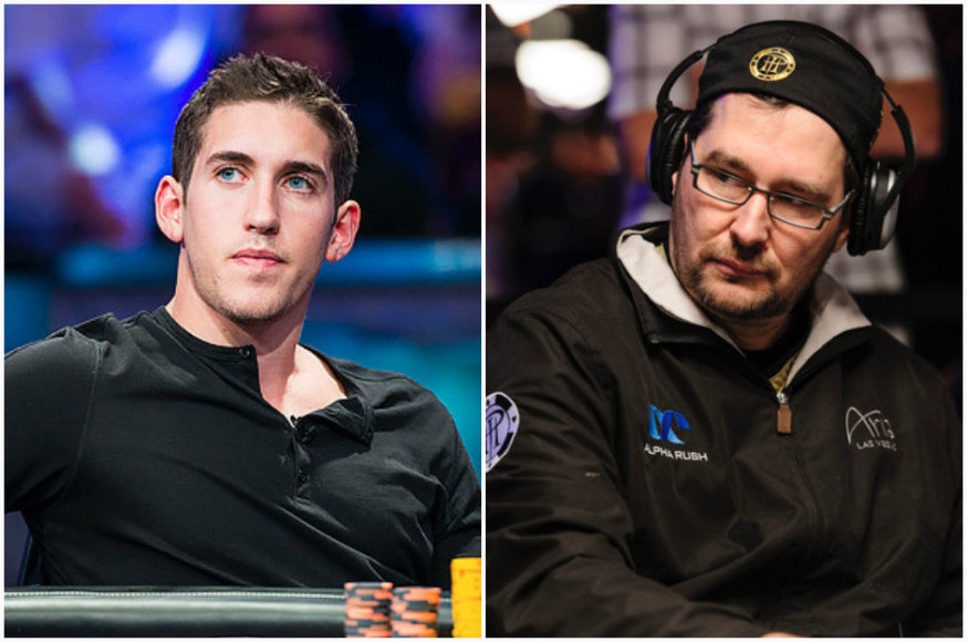 Danielis Colmanas ir Philas Hellmuthas / PokerStarsBlog.com nuotr.