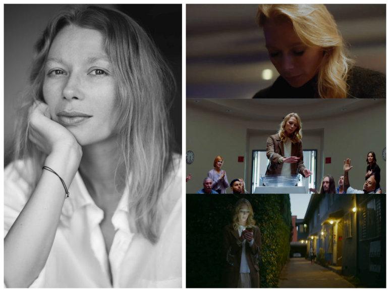 "Erika Stasiulevičiūtė grupės ""Bastille"" vaizdo klipe ""Blame"""