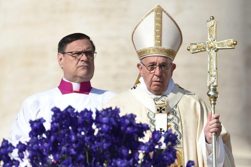 Popiežius Pranciškus pasakė Velykų sveikinimą