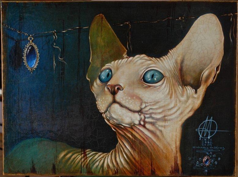 Naujieji Arūno Mėčiaus kūriniai pasakoja apie senamiesčio gyventoją - katiną.