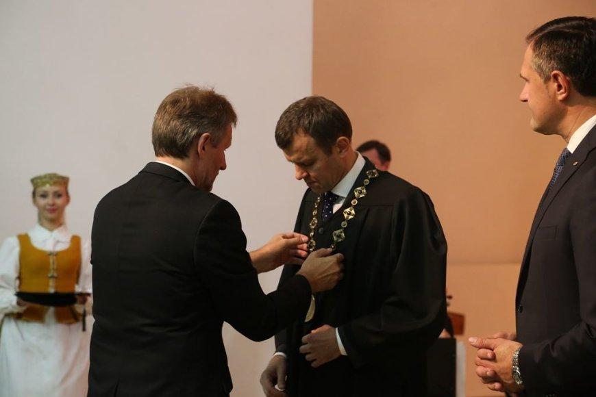 Inauguruotas naujasis LSU rektorius dr. Aivaras Ratkevičius