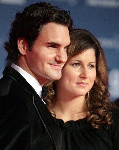 Roger Federeris su žmona Mirka