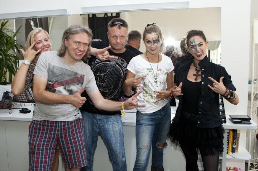 Algirdas Barniškis-Blėka, Samas, Justė Zinkevičiūtė ir Jogilė Ramoškaitė
