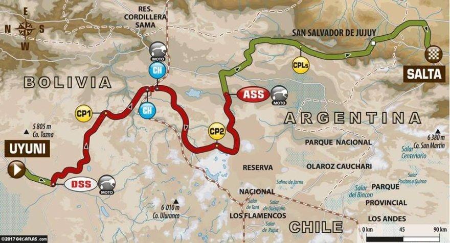 Dakaro 8 etapas iš Ujūnio į Saltą