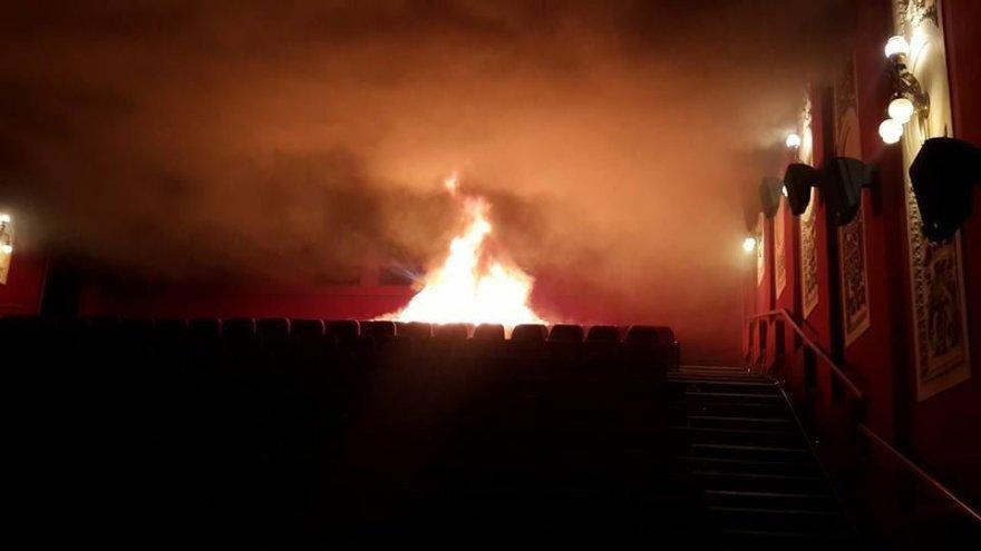 Kijevo kino teatre – gaisras.