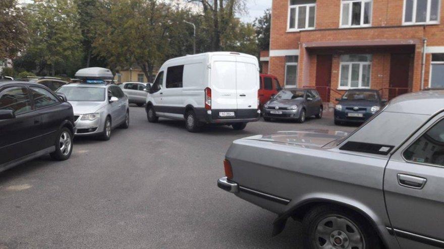 Mikroautobusas, kuriuo buvo išvežtas D.Daškevičius